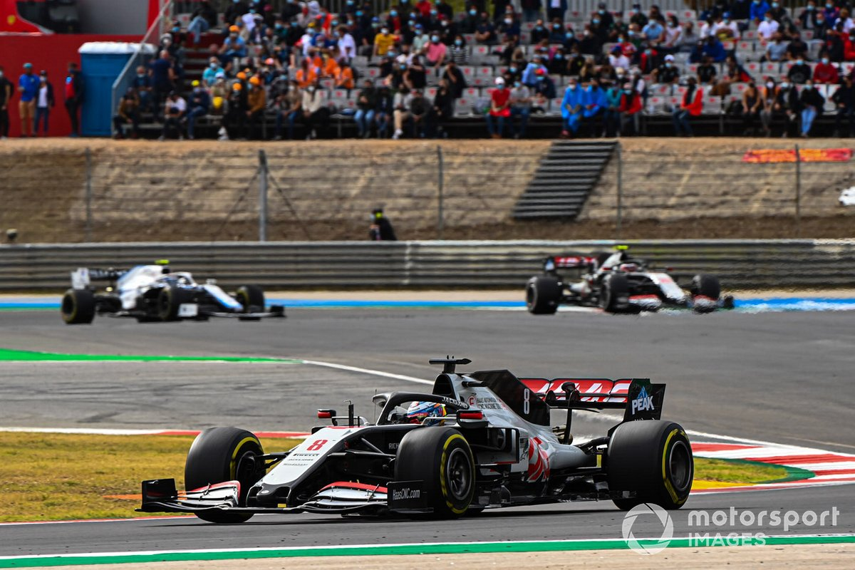Romain Grosjean, Haas VF-20, Kevin Magnussen, Haas VF-20, Nicholas Latifi, Williams FW43