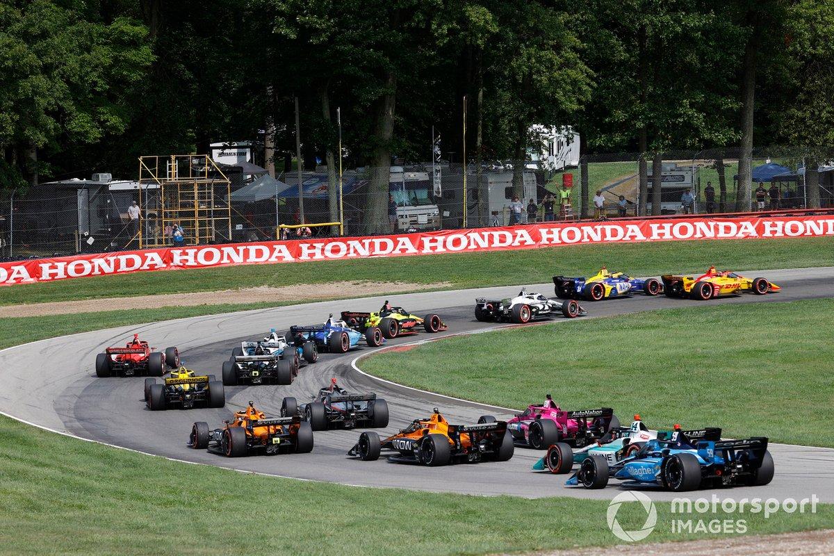 Ryan Hunter-Reay, Andretti Autosport Honda, Alexander Rossi, Andretti Autosport Honda, inicio