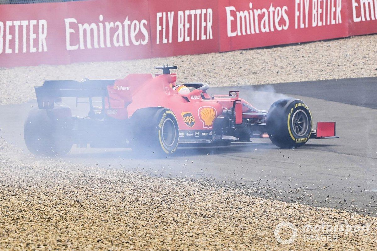 Sebastian Vettel, Ferrari SF1000, testacoda