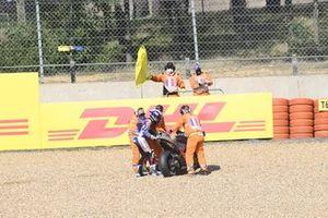 Miguel Oliveira, Red Bull KTM Tech 3 crash
