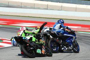 Sturz: Tom Booth-Amos, RT Motorsports by SKM Kawasaki, Unai Orradre, Yamaha MS Racing