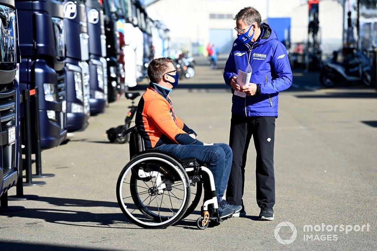 Pit Beirer, jefe KTM, Lin Jarvis, Yamaha Factory Racing