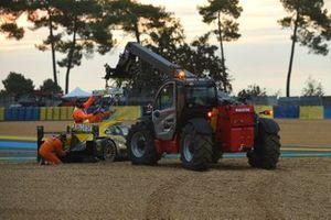 #29 Racing Team Nederland Dallara P217: Frits van Eerd, Giedo van der Garde, Nyck de Vries nella sabbia
