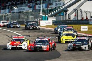 Loic Duval, Audi Sport Team Phoenix, Audi RS 5 DTM, Sheldon van der Linde, BMW Team RBM, BMW M4 DTM, Jamie Green, Audi Sport Team Rosberg, Audi RS 5 DTM
