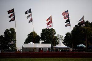 Flags, fans