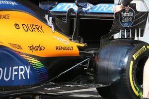 McLaren MCL35 rear wing detail