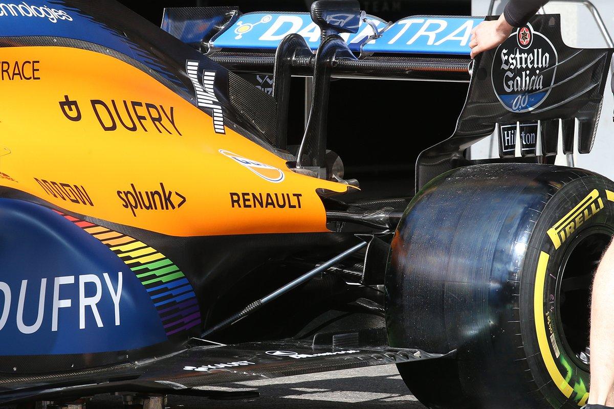 McLaren MCL34 Detalle del ala trasera