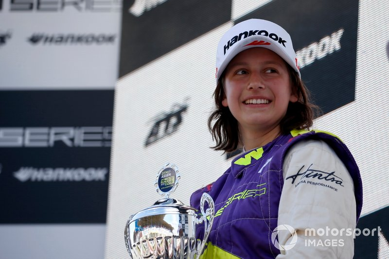 Podium: Race winner Megan Gilkes
