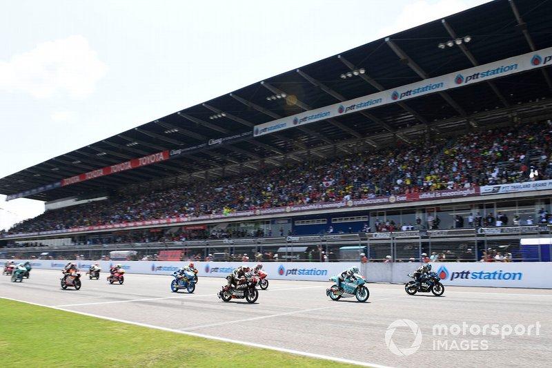 Start zum Moto3-Rennen in Buriram 2019