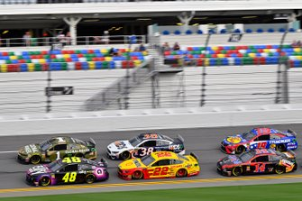 Jimmie Johnson, Hendrick Motorsports, Chevrolet Camaro Ally, Joey Logano, Team Penske, Ford Mustang Shell Pennzoil
