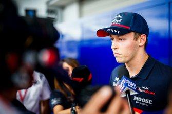 Daniil Kvyat, Toro Rosso speaks to the media