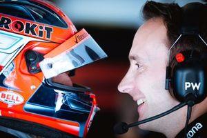 Robert Kubica con el ingeniero de carreras Paul Williams, Williams Racing