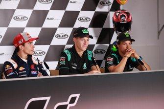Marc Marquez, Repsol Honda Team, Fabio Quartararo, Petronas Yamaha SRT, Franco Morbidelli, Petronas Yamaha SRT