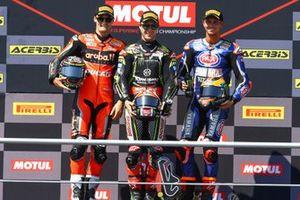 Chaz Davies, Aruba.it Racing-Ducati Team, Jonathan Rea, Kawasaki Racing Team, Michael van der Mark, Pata Yamaha