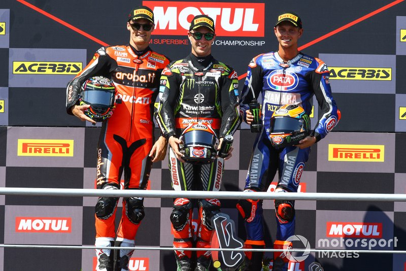 Chaz Davies, Aruba.it Racing-Ducati Team, Jonathan Rea, Kawasaki Racing Team, Michael van der Mark, Pata Yamaha