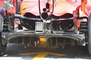 Exhaust and diffuser details of the Ferrari SF90