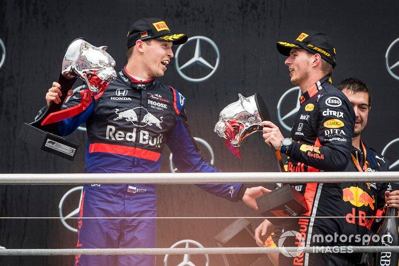Daniil Kvyat, Toro Rosso, Max Verstappen, Red Bull Racing