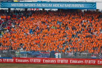 A sea of orange fans supporting Max Verstappen, Red Bull Racing