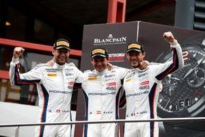 Podium: Winners #20 GPX Racing Porsche 911 GT3 R: Kevin Estre, Michael Christensen, Richard Lietz