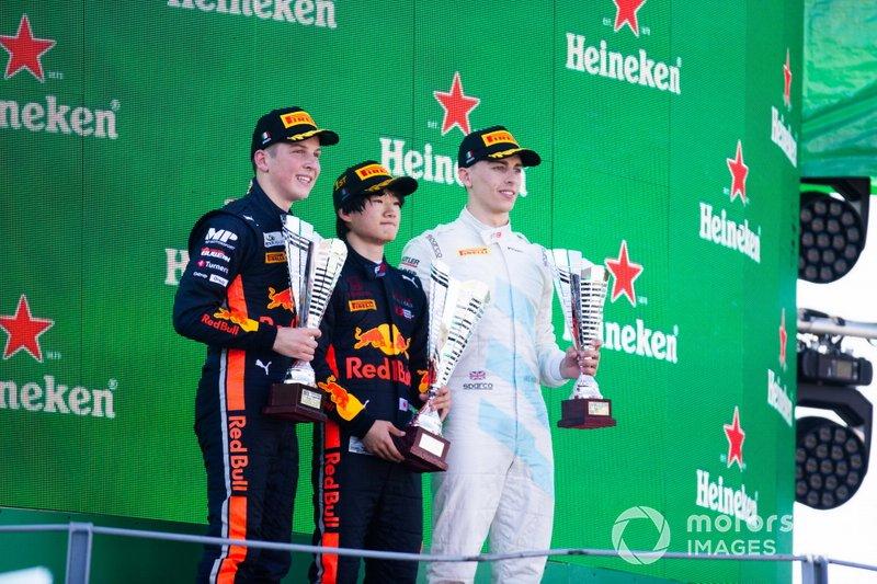 Yuki Tsunoda, Jenzer Motorsport Liam Lawson, MP Motorsport ve Jake Hughes, HWA RACELAB
