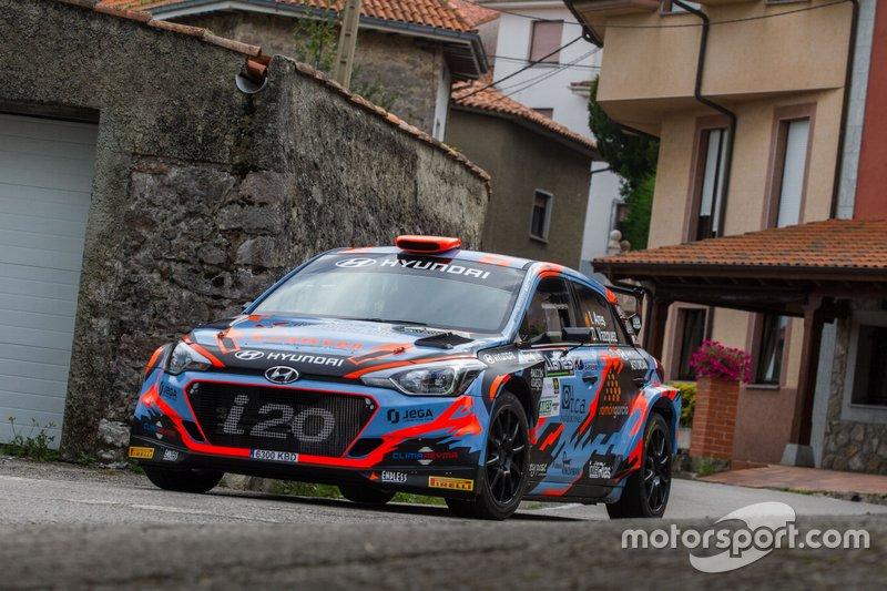 Iván Ares - David Vázquez, Hyundai i20 R5, Rally Villa de Llanes