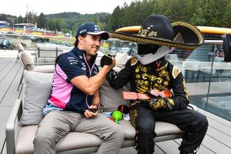 Sergio Perez, Racing Point, and Mario Achi