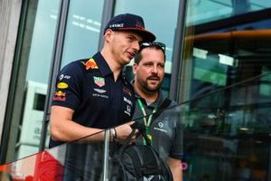 Max Verstappen, Red Bull Racing, and a Schuberth employee