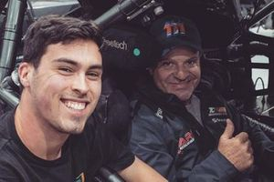 Thomas Randle and Rubens Barrichello