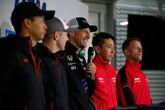 Press Conference, Jenson Button, Team Kunimitsu Honda