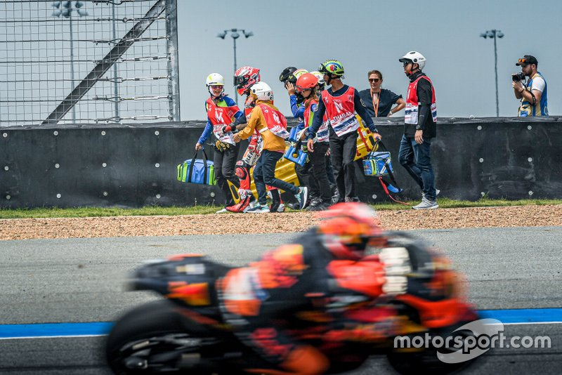 Marc Marquez, Repsol Honda Team, after his crash