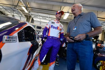 Denny Hamlin, Joe Gibbs Racing, Toyota Camry FedEx Freight and Dale Jarrett