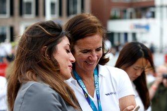 Catherine Bond Muir, W Series CEO, Vicky Piria