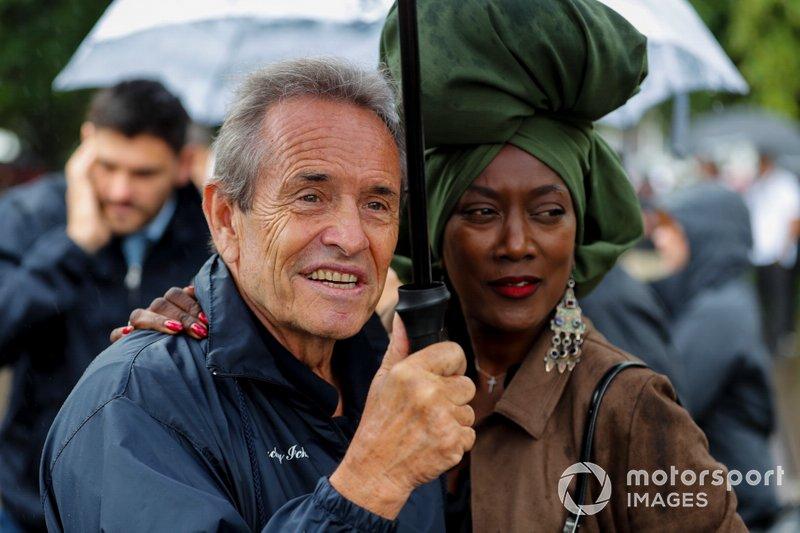 Jacky Ickx and Khadja Nin before the Michael Schumacher Celebration