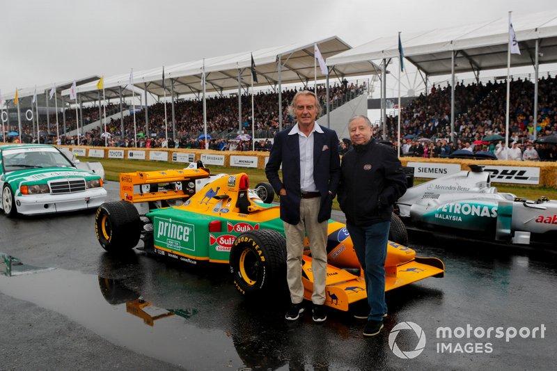 Luca Cordero di Montezemolo and Jean Todt at the Michael Schumacher Celebration