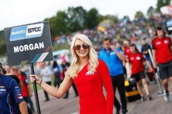 Adam Morgan, Cicely Racing Mercades A-Class grid girl
