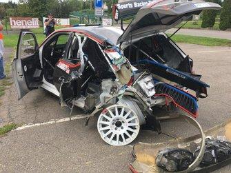 После аварии: Skoda Fabia R5 Николая Грязина и Ярослава Федорова, Sports Racing Technologies