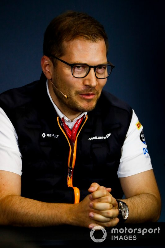 Andreas Seidl, Takım Patronu, McLaren, basın toplantısında