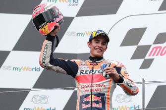 Podium: second place Marc Marquez, Repsol Honda