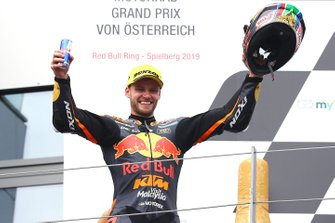 Podium : le vainqueur Brad Binder, KTM Ajo