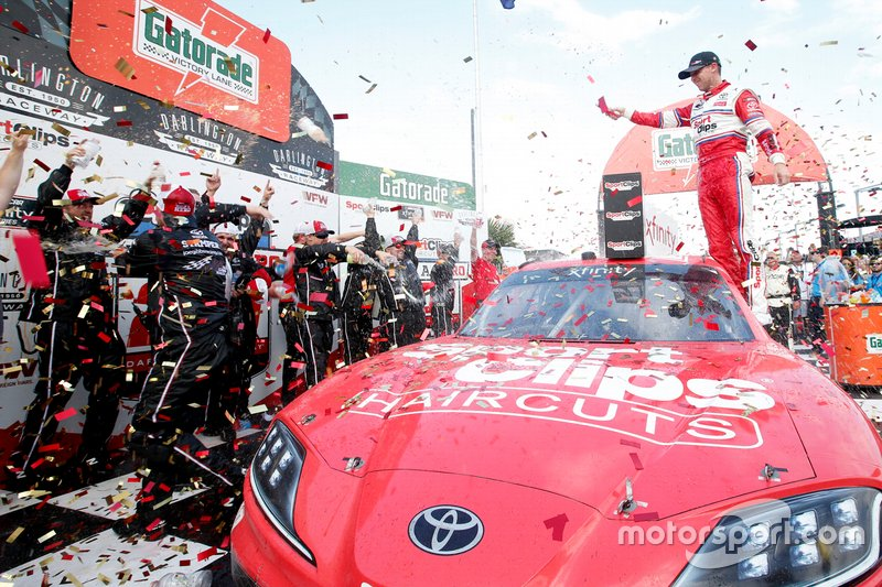 Race Winner Denny Hamlin, Joe Gibbs Racing, Toyota Supra