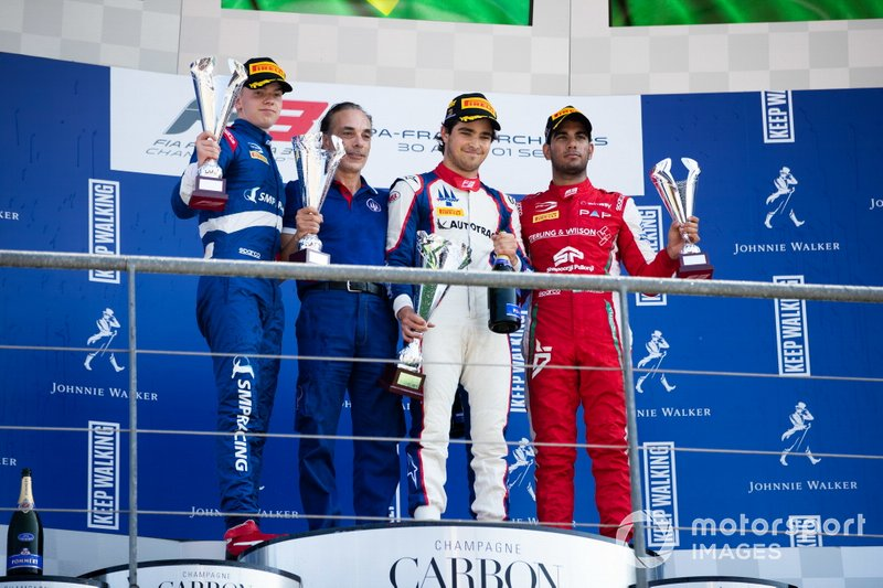 Pedro Piquet, Trident Robert Shwartzman, PREMA Racing and Jehan Daruvala, PREMA Racing