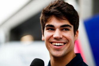 Lance Stroll, Racing Point speaks to the press