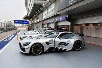 Safety Car in the paddock