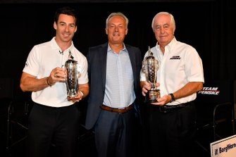 Roger Penske, Simon Pagenaud and Fred Lissalde, President and CEO, BorgWarner