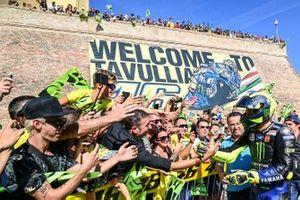 Valentino Rossi, Yamaha Factory Racing per le strade di Tavullia