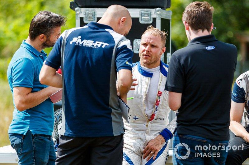 Valtteri Bottas prueba un M-Sport Ford Fiesta WRC
