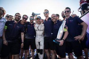 Ganador, Robin Frijns, Envision Virgin Racing celebra