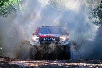 Nasser Al Attiyah y Mathieu Baumel, Toyota Gazoo Racing SA, Toyota Hilux (201)