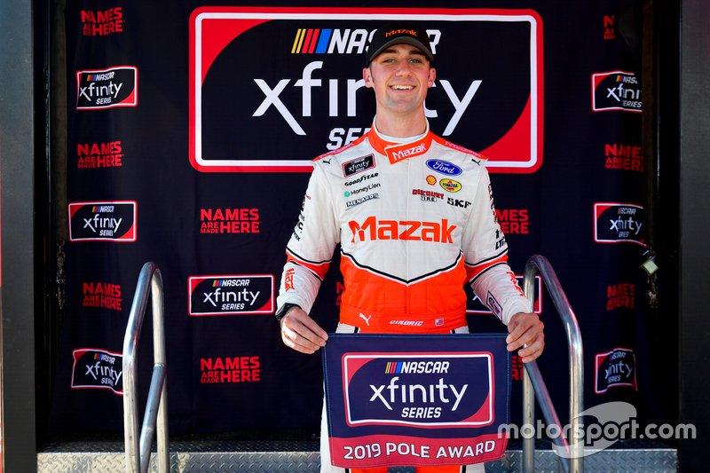 Pole Award Winner Austin Cindric, Team Penske, Ford Mustang Mazak
