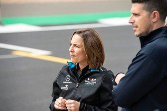Claire Williams, directora de Williams Racing y Marc Harris
